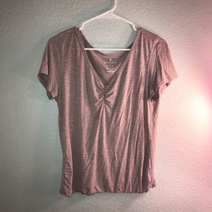 BLUSH PINK striped top!